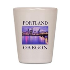 Funny Portland oregon Shot Glass