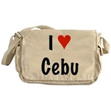 I love Cebu Messenger Bag