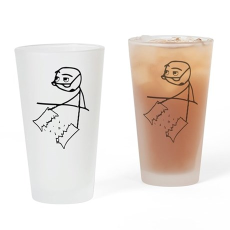 Cereal Guy Newspaper Tear Drinking Glass