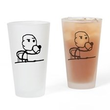 Cereal Guy Sip Drinking Glass