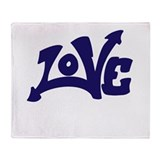 Love Graffiti Art Throw Blanket