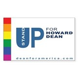 Stand Up for Dean Rectangle Decal