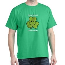[Your text] Shamrock Smiley T-Shirt