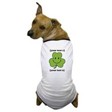 [Your text] Shamrock Smiley Dog T-Shirt