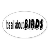All About Birds Oval Decal