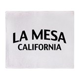 La Mesa California Throw Blanket