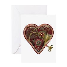 Steampunk Heart Greeting Card