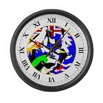 Chagos Birds Large Wall Clock