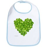 Brussel Sprouts Heart Bib