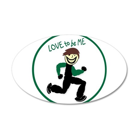 LOVE TO BE ME - RUNNER GUY 38.5 x 24.5 Oval Wall P