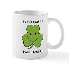 [Your text] Shamrock Smiley Small Mug