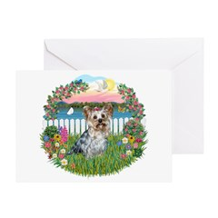 Garden-Shore-Yorkie#13 Greeting Card