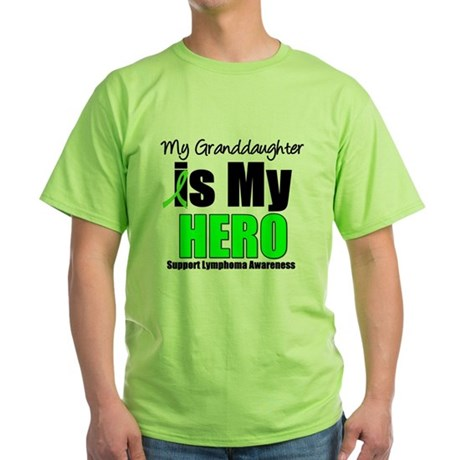 Lymphoma Hero (GD) Green T-Shirt
