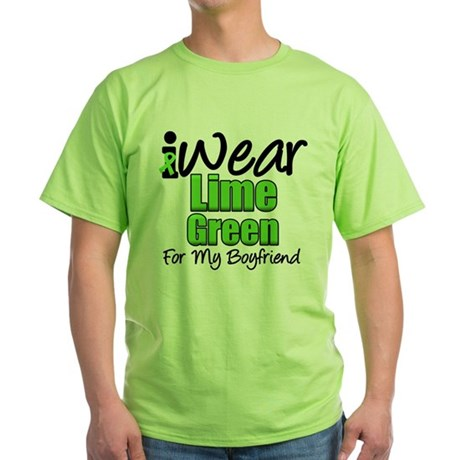 Lymphoma Boyfriend Green T-Shirt