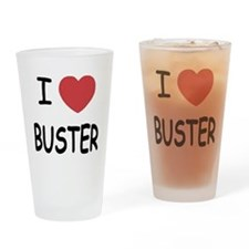 I heart buster Drinking Glass