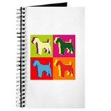 Fox Terrier Silhouette Pop Art Journal
