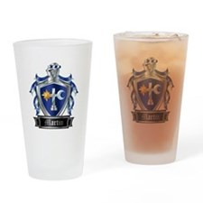 MARTIN COAT OF ARMS Drinking Glass