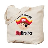 Brown Hair Pirate Big Brother Tote Bag