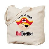 Blonde Hair Pirate Big Brother Tote Bag
