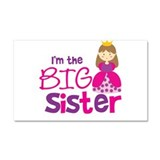 Brown Hair Princess Big Siste Car Magnet 20 x 12
