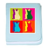 French Bulldog Silhouette Pop Art baby blanket