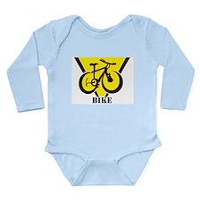 Cute Mountain biking Long Sleeve Infant Bodysuit