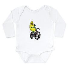 Unique Mountain biking Long Sleeve Infant Bodysuit