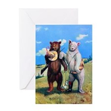 Roosevelt Bears Hiking Out West Greeting Card
