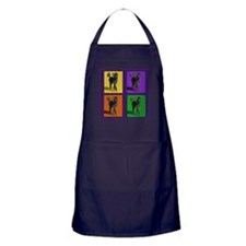 Poodle Pop Art Apron (dark)
