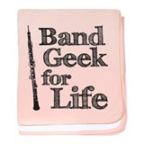 Oboe Band Geek baby blanket
