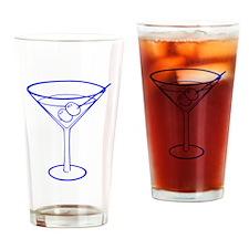 Blue Martini Glass Drinking Glass
