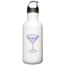 Blue Martini Glass Water Bottle