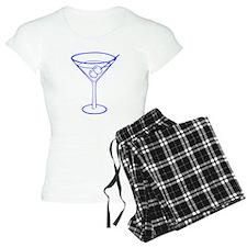 Blue Martini Glass pajamas