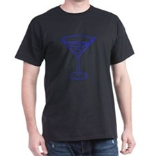 Blue Martini Glass T-Shirt