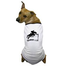 Show Jumper on a dark horse Dog T-Shirt