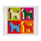 Poodle Silhouette Pop Art Throw Blanket