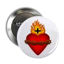 "Sacred Heart 2.25"" Button (10 pack)"