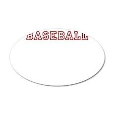 baseball 22x14 Oval Wall Peel