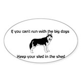 Cute Sled dog Decal