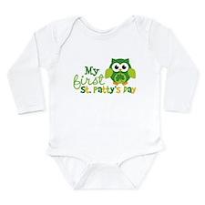 My 1st St. Patrick's Day Owl Long Sleeve Infant Bo