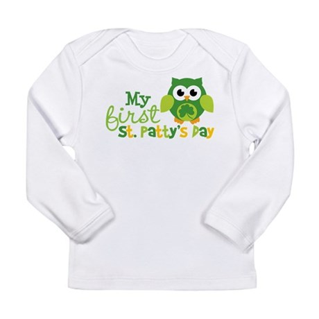 My 1st St. Patrick's Day Owl Long Sleeve Infant T-