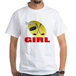 Hockey Girl White T-Shirt