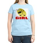 Hockey Girl Women's Pink T-Shirt