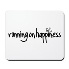 running on happiness Mousepad