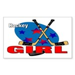 Hockey Girl Rectangle Sticker