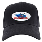 Hockey Girl Black Cap