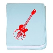 Flaming Guitar baby blanket