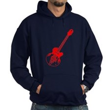 Flaming Guitar Hoody