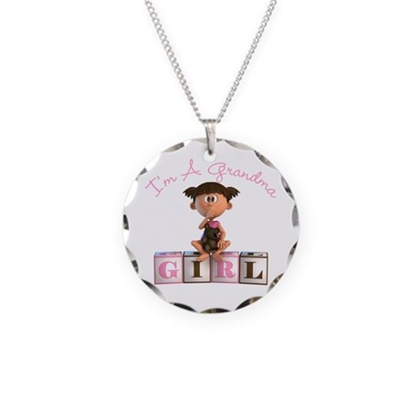 I'm A Grandma (Baby Girl) TG Necklace Circle Charm