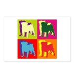 Pug Silhouette Pop Art Postcards (Package of 8)
